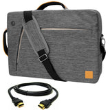 VanGoddy Gray Slate 3-in-1 Hybrid Laptop Bag for Microsoft Surface Book/Surface Pro Series/Surface Laptop + 12FT HDMI Cable
