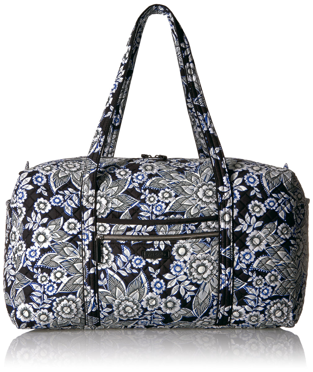 Vera Bradley Women's Signature Cotton Large Travel Duffel Travel Bag, Snow Lotus, One Size
