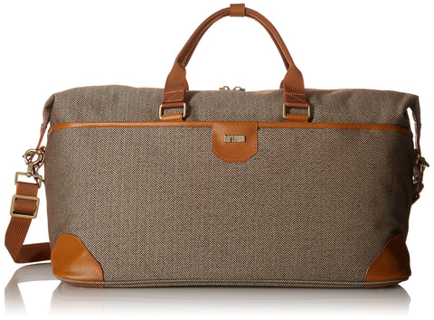 Hartmann Herringbone Luxe Softside Weekend Duffel, Terracotta