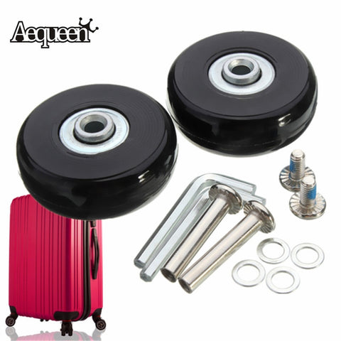 AEQUEEN Luggage Suitcase Wheels OD 50 1.97 Inch ID 6 W 18 Axles 35 Repair Set Replacement Luggage Wheels 50x18mm
