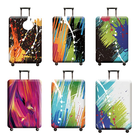Abstract Luggage Cover Travel Suitcase Protector Suit For 18-32 Size Trolley Case Dust Travel