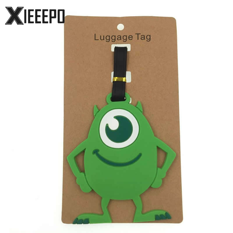 Cartoon Animal Luggage Tag Travel Accessories Silica Gel Suitcase ID Address Holder Baggage