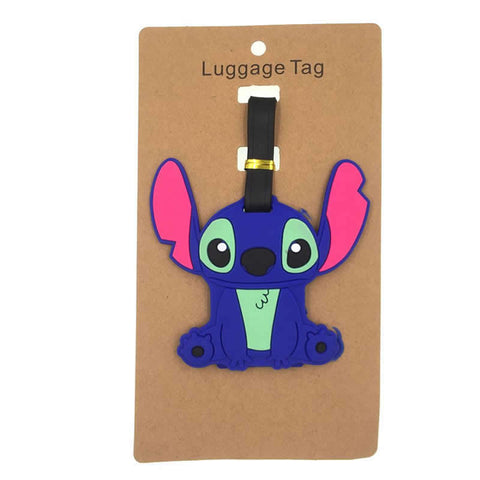 Cartoon Stitch Luggage Tag Travel Accessories Silica Gel Suitcase ID Address Holder Baggage