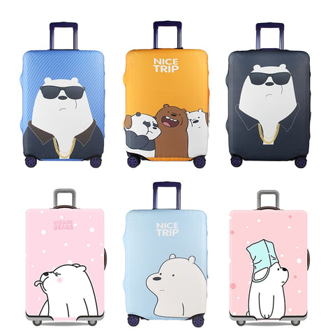 Cute Bear Luggage Cover Travel Suitcase Protector Suit For 18-32 Size Trolley Case Dust Travel