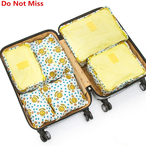 Do Not Miss 6PCS/Set Bag In Bag Waterproof Organizer Bags for Clothes Suit Business Travel