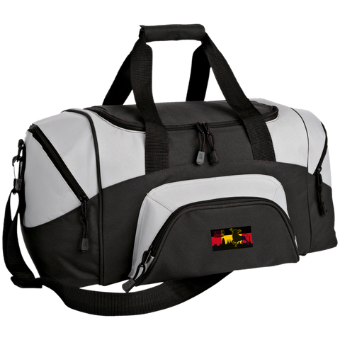 Bg990S Port & Co. Small Colorblock Sport Duffel Bag