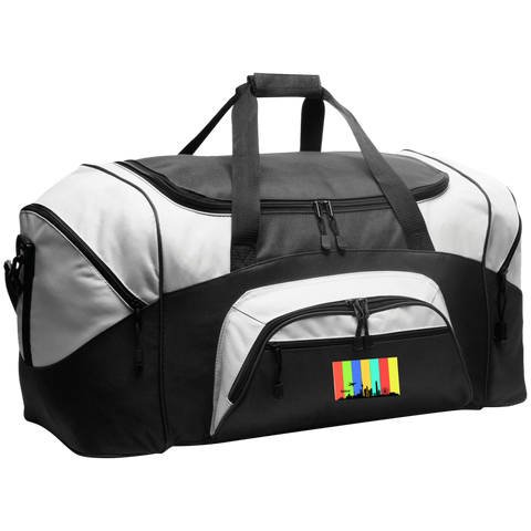 Beijing Travel - Luggage Factory . Colorblock Sport Duffel