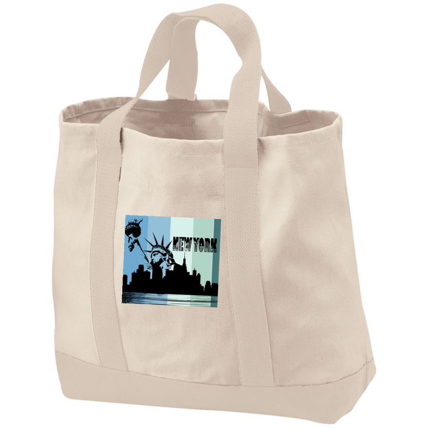 New York New York - Travel Experts 2-Tone Shopping Tote