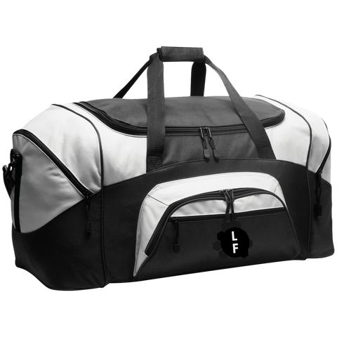 Colorblock Sport Duffel from Luggage Factory