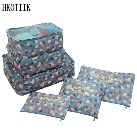 High-quality travel 6 pieces/set of luggage Separate organizer Large-capacity storage bag Cubic