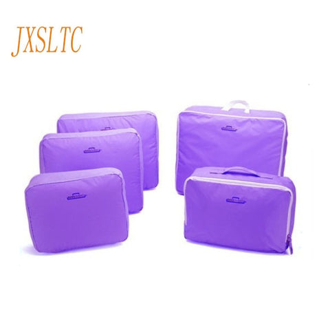 JXSLTC 5PCS/Set High Quality Oxford Cloth Travel Mesh Bag Luggage Organizer Packing Cube