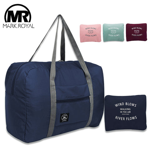 MARKROYAL New Folding Travel Bag Nylon Women Travel Bags Large Capacity Hand Luggage Tote Duffel