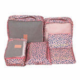 Mihawk  6Pcs/set Portable Packing Cube Travel Bags Women Clothes Cosmetic Sorting Storage Pouch