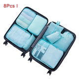 Mihawk Travel Bags Sets Waterproof Packing Cube Portable Clothing Sorting Organizer Luggage Tote