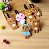 OKOKC Cartoon PVC Suitcase Luggage Tags Travel Card Sets Silicone Boarding Pass Luggage Accessories
