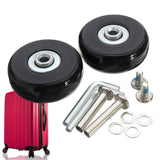 Osmond 50x18mm Luggage Suitcase Replacement Wheels OD 50 1.97 Inch ID 6 W 18 Axles 35 Repair Set