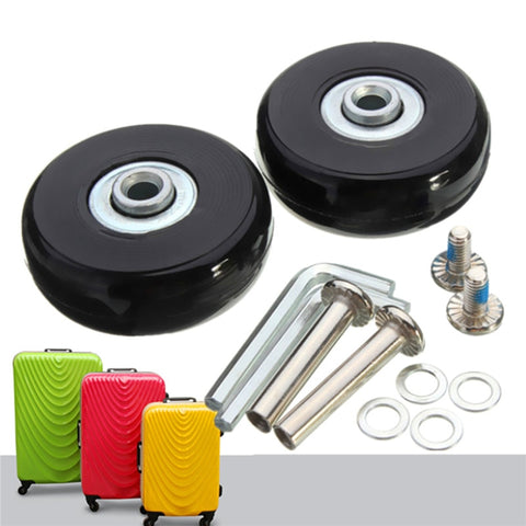 Osmond 50x18mm Rubber Repair Luggage Suitcase Wheels OD 50 1.97 Inch ID 6 W 18 Axles 35 Repair