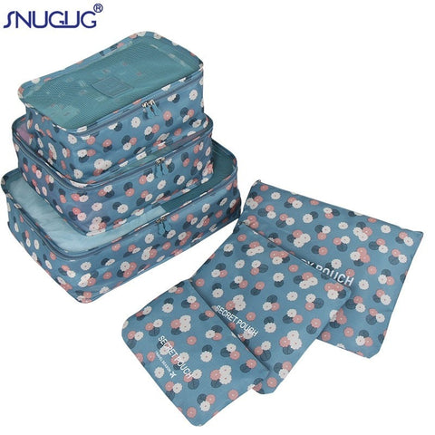 Packing Cubes 6 pcs/Set Travel Bag luggage bad Organizer Suitcase Home Wardrobe closet cupboard