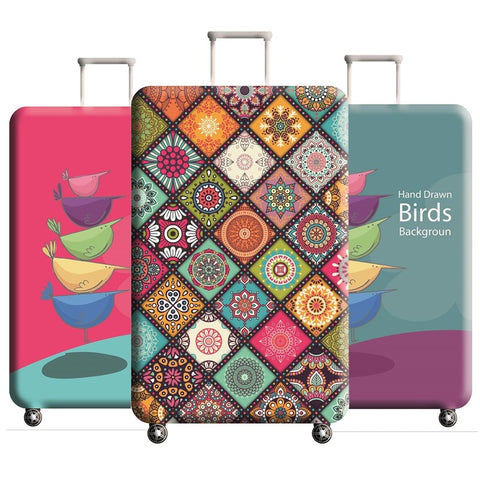 Peacock Pattern Travel Accessories Luggage Cover Suitcase Protection Baggage Dust Cover Stretch