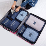 RUPUTIN 7Pcs/set Trip Luggage Organizer Clothes Finishing Kit Storage Bag Cosmetic toiletrie