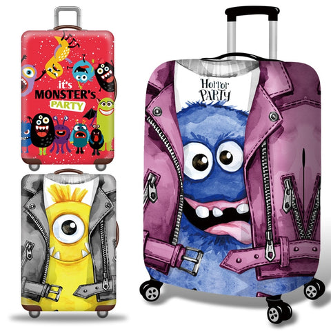 Strange Luggage Cover Travel Suitcase Protector Suit For 18-32 Size Trolley Case Dust Travel