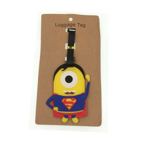Travel Accessories Cartoon Superman Luggage Tag Silica Gel Suitcase ID Address Holder Baggage
