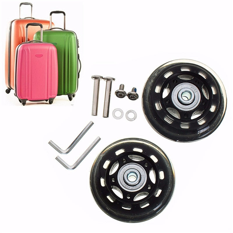 Travel Bags Replacement Luggage Wheels Set Universal Suitcase Repair Kit Axles Wrench Bearing Skate