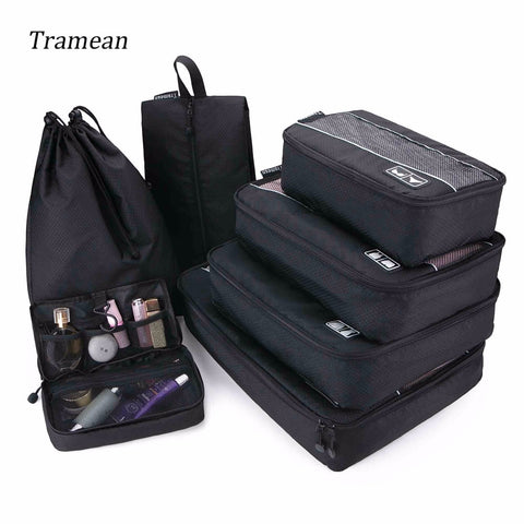Travel Luggage Bag Organizer Packing Cubes Set Breathable Mesh Waterproof Packing Duffle Bag