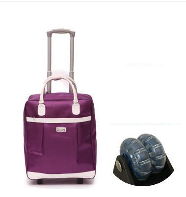 Women travel bags wheels Travel trolley bags sets travel handbag Nylon large capacity Travel