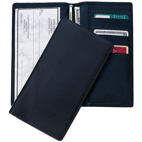 Royce Leather RFID Blocking Checkbook Holder Secretary Wallet
