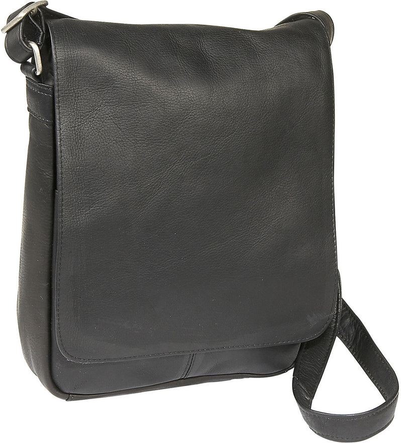 LeDonne Leather Vertical Flap Over Shoulder Bag