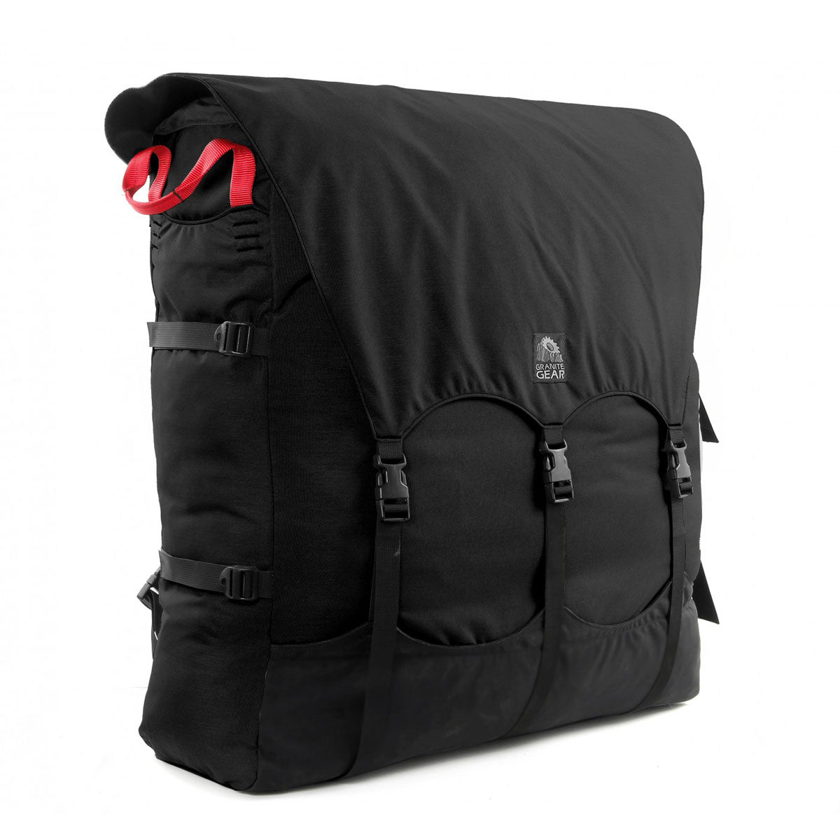 This pack refines the age-old portage pack design with an anatomically cut harness system, sternum strap, internal pockets, arched lid and drawcord overflow.