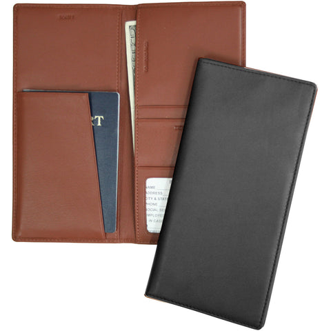 Royce Leather RFID Passport Ticket Organizer