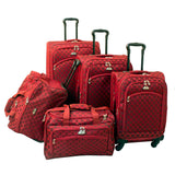 American Flyer Madrid 5pc Spinner Luggage Set