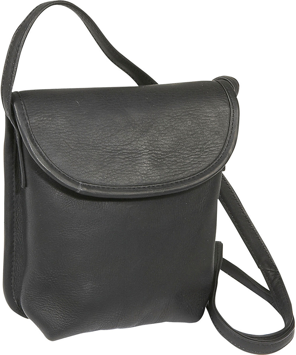 LeDonne Leather Magnetic Flap Mini Crossbody