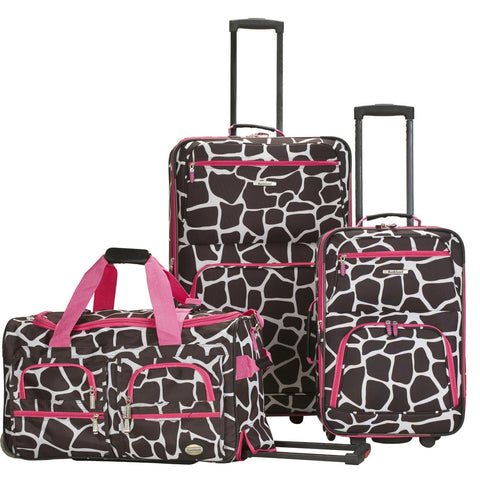 Rockland Luggage Spectra 3 Piece Luggage Set