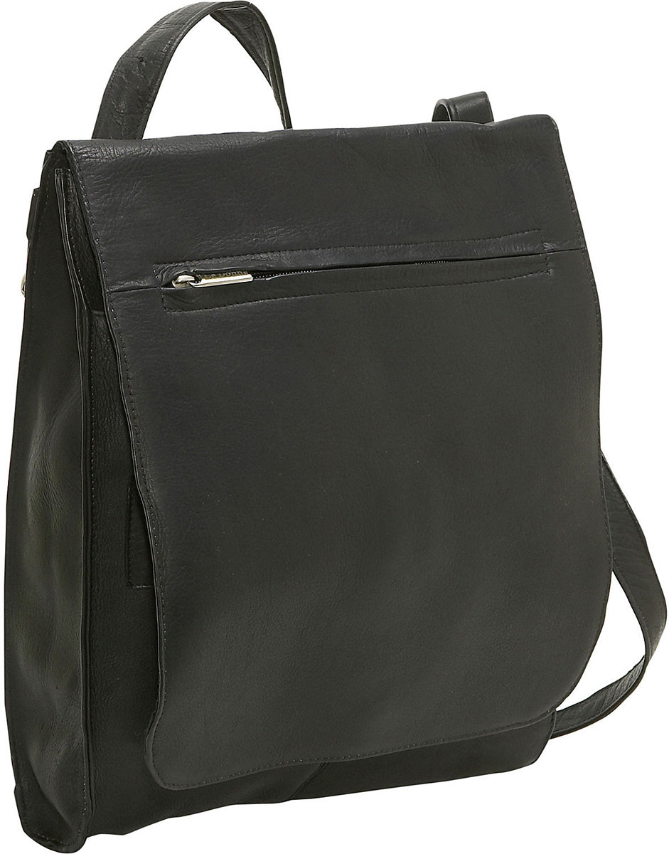 LeDonne Leather Convertible Shoulder Bag/Backpack