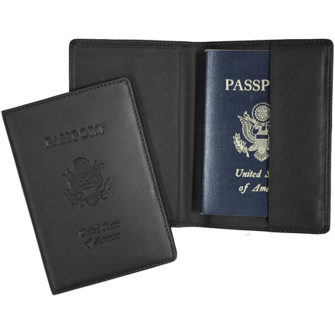 Royce Leather RFID Blocking Passport Travel Document Organizer