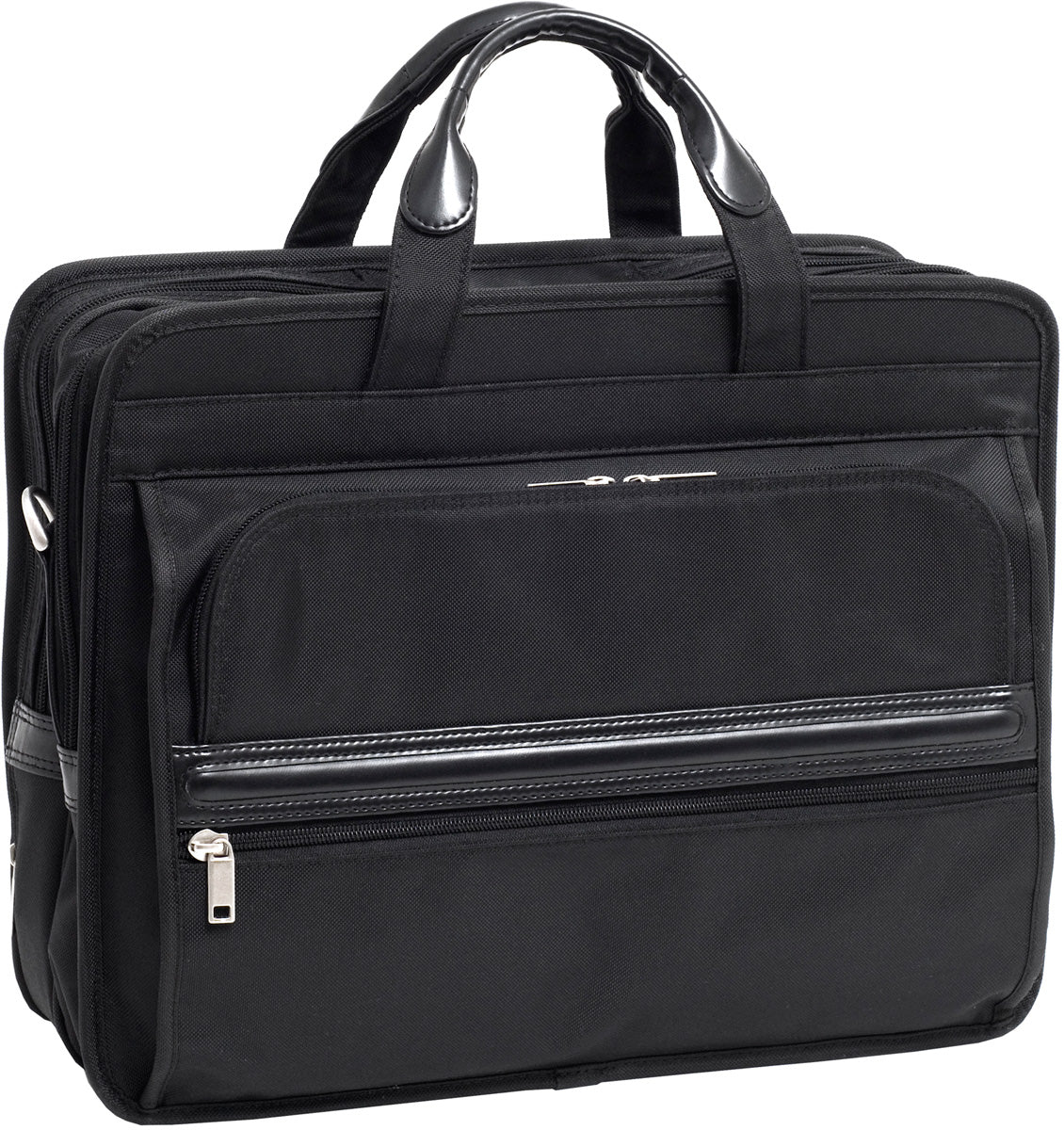 McKlein P Series Elston Nylon Dbl Compartment Laptop Case