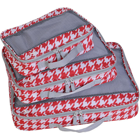 American Flyer Houndstooth 3pc Packing Cube Set
