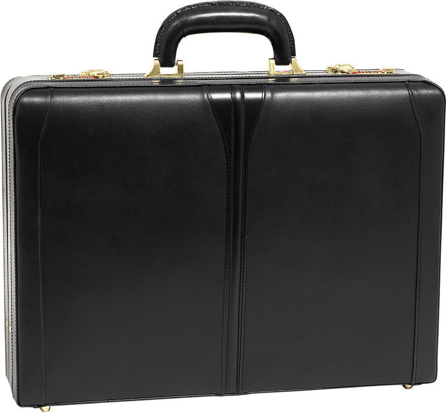 McKlein V Series Turner Leather Expandable Attache Case