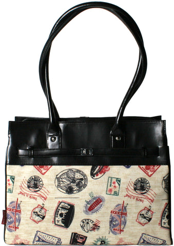 Bark N Bag Postage Stamp Monaco Tote