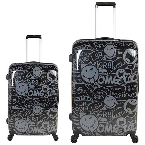 ATM Luggage Smiley World Stealth 2pc Set