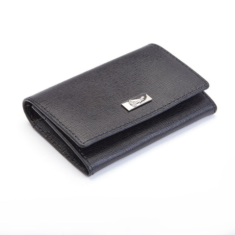 Royce Leather RFID Blocking Italian Saffiano Business Card Case
