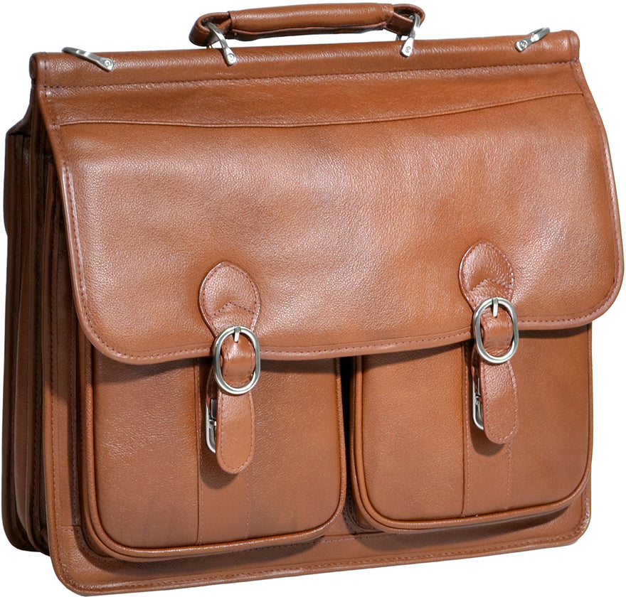 McKlein S Series Hazel Crest Leather Double Compartment Laptop Case