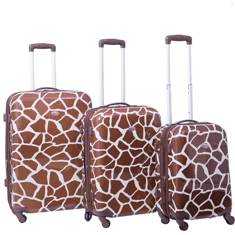 American Flyer Giraffe 3pc Hardside Spinner Set