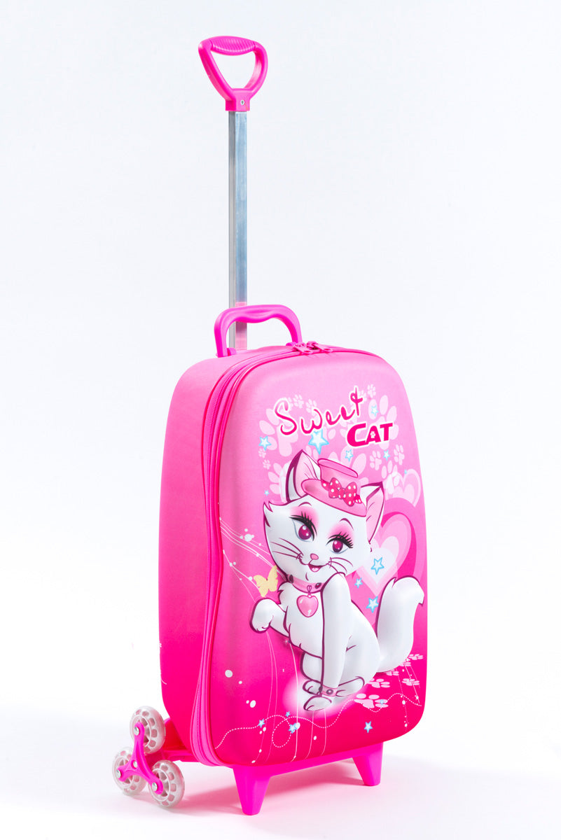 Maxi's Designs Sweet Cat 3D Rolling Suitcase - Luggage Factory