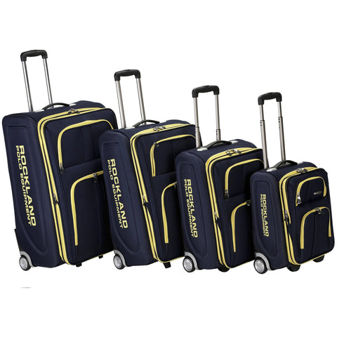 Rockland Luggage Polo Equipment Varsity 4 Piece Luggage Set