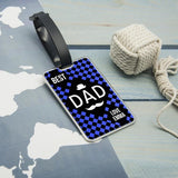 Personalised Chequered World's Best Dad Luggage