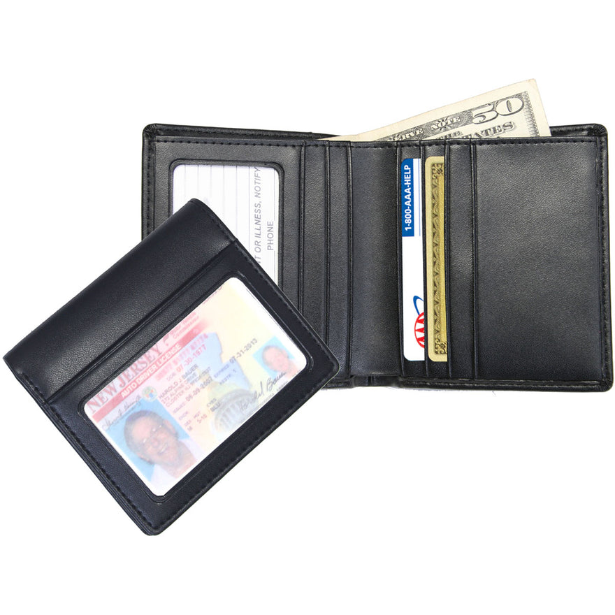 Royce Leather Men's Double ID Bifold Wallet